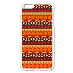 Abstract Lines Seamless Art  Pattern Apple Iphone 6 Plus/6s Plus Enamel White Case