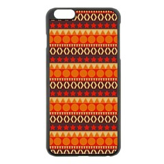 Abstract Lines Seamless Art  Pattern Apple Iphone 6 Plus/6s Plus Black Enamel Case