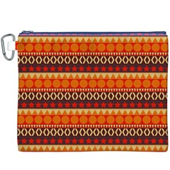 Abstract Lines Seamless Art  Pattern Canvas Cosmetic Bag (XXXL)