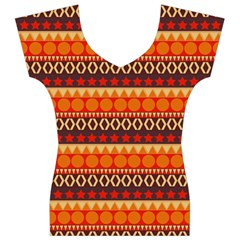 Abstract Lines Seamless Art  Pattern Women s V-Neck Cap Sleeve Top