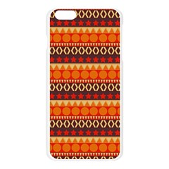 Abstract Lines Seamless Art  Pattern Apple Seamless iPhone 6 Plus/6S Plus Case (Transparent)