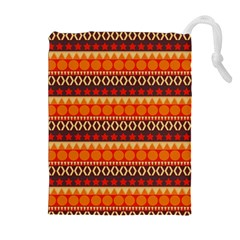 Abstract Lines Seamless Art  Pattern Drawstring Pouches (extra Large)