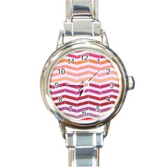 Abstract Vintage Lines Round Italian Charm Watch