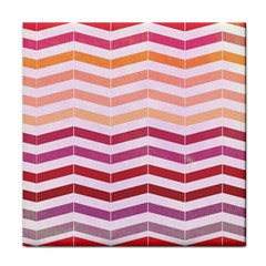 Abstract Vintage Lines Tile Coasters