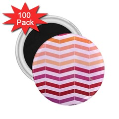 Abstract Vintage Lines 2 25  Magnets (100 Pack)
