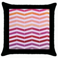 Abstract Vintage Lines Throw Pillow Case (black)