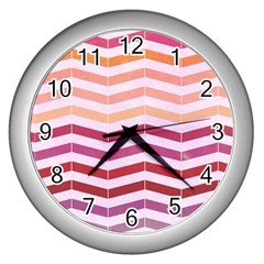 Abstract Vintage Lines Wall Clocks (Silver)