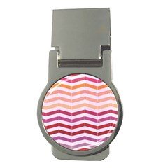 Abstract Vintage Lines Money Clips (round)