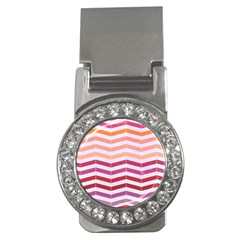 Abstract Vintage Lines Money Clips (cz)