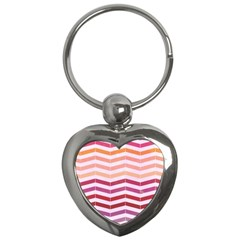 Abstract Vintage Lines Key Chains (heart)