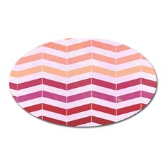 Abstract Vintage Lines Oval Magnet