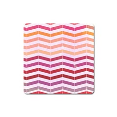 Abstract Vintage Lines Square Magnet