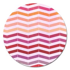 Abstract Vintage Lines Magnet 5  (round)