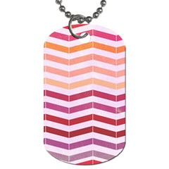 Abstract Vintage Lines Dog Tag (one Side)