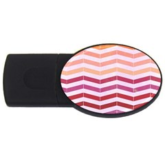 Abstract Vintage Lines Usb Flash Drive Oval (2 Gb)