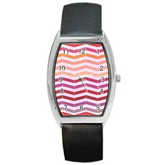 Abstract Vintage Lines Barrel Style Metal Watch