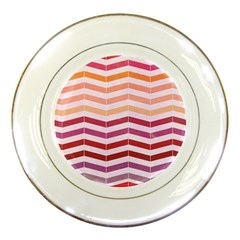 Abstract Vintage Lines Porcelain Plates