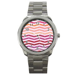Abstract Vintage Lines Sport Metal Watch