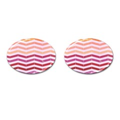 Abstract Vintage Lines Cufflinks (oval)