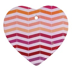 Abstract Vintage Lines Heart Ornament (two Sides)