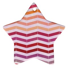 Abstract Vintage Lines Star Ornament (two Sides)
