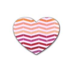 Abstract Vintage Lines Heart Coaster (4 Pack)