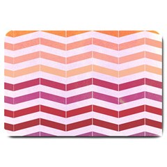 Abstract Vintage Lines Large Doormat