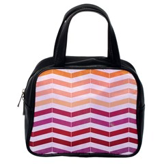 Abstract Vintage Lines Classic Handbags (one Side)