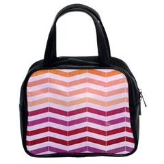 Abstract Vintage Lines Classic Handbags (2 Sides)