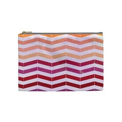Abstract Vintage Lines Cosmetic Bag (Medium)