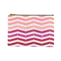 Abstract Vintage Lines Cosmetic Bag (large)