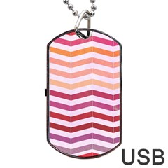Abstract Vintage Lines Dog Tag USB Flash (Two Sides)