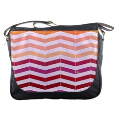 Abstract Vintage Lines Messenger Bags