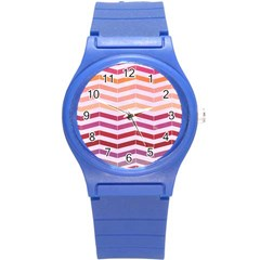 Abstract Vintage Lines Round Plastic Sport Watch (s)