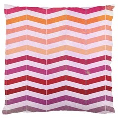 Abstract Vintage Lines Large Cushion Case (two Sides)