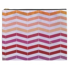 Abstract Vintage Lines Cosmetic Bag (xxxl)