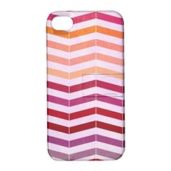 Abstract Vintage Lines Apple Iphone 4/4s Hardshell Case With Stand