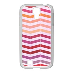 Abstract Vintage Lines Samsung Galaxy S4 I9500/ I9505 Case (white)