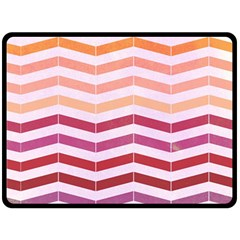 Abstract Vintage Lines Double Sided Fleece Blanket (Large)