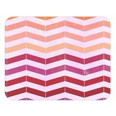 Abstract Vintage Lines Double Sided Flano Blanket (large)