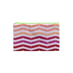 Abstract Vintage Lines Cosmetic Bag (xs)