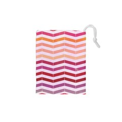 Abstract Vintage Lines Drawstring Pouches (xs)