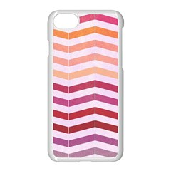 Abstract Vintage Lines Apple Iphone 7 Seamless Case (white)