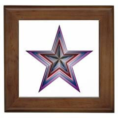 Star Abstract Geometric Art Framed Tiles