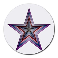 Star Abstract Geometric Art Round Mousepads