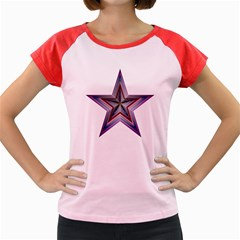 Star Abstract Geometric Art Women s Cap Sleeve T-Shirt