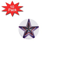 Star Abstract Geometric Art 1  Mini Buttons (10 Pack)