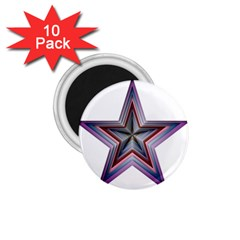 Star Abstract Geometric Art 1 75  Magnets (10 Pack)