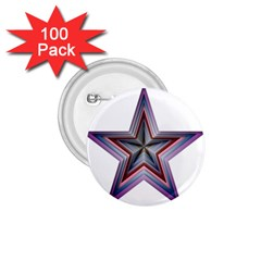 Star Abstract Geometric Art 1.75  Buttons (100 pack)