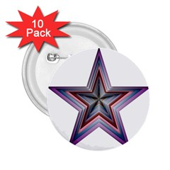 Star Abstract Geometric Art 2.25  Buttons (10 pack)